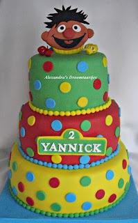 Ernie sesamstraat taart