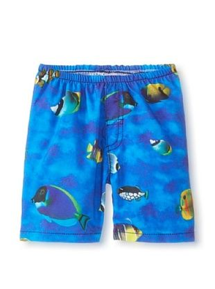 32% OFF Charlie Rocket Boy's Aquarium Swim Short (Blue)