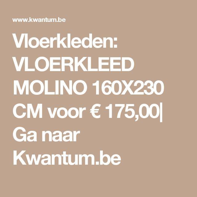 Vloerkleden: VLOERKLEED MOLINO 160X230 CM voor € 175,00| Ga naar Kwantum.be