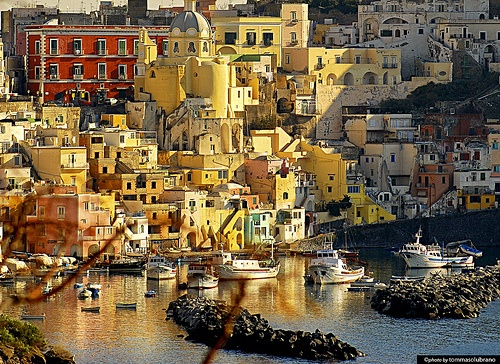 Procida island off the coast of Naples in southern Italy