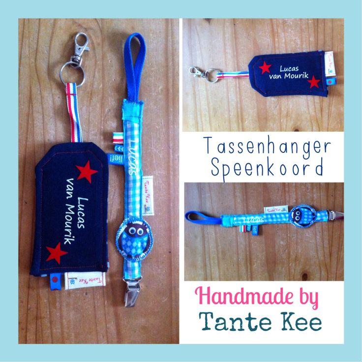 Tassenhanger en speenkoord - Handmade by Tante Kee