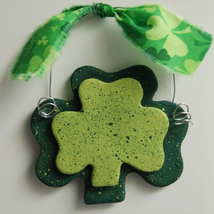 Make Shamrocks ,Gold Shamrock Coins, Welsh Dragon , Scottish Symbols and so much more with this Salt dough it has alot of ideas  Salt dough Recipe  http://recycledawblog.blogspot.com/2013/01/how-to-make-salt-dough-offering-bowls.html