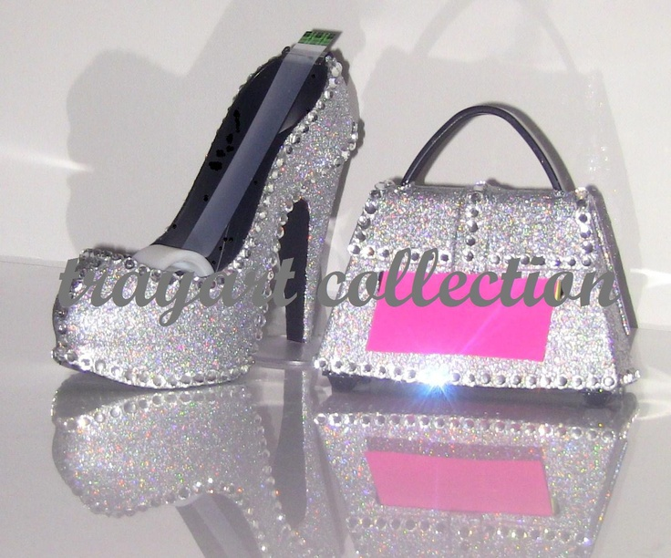 Gem Bling Sparle Stiletto High Heel Shoe TAPE Dispenser