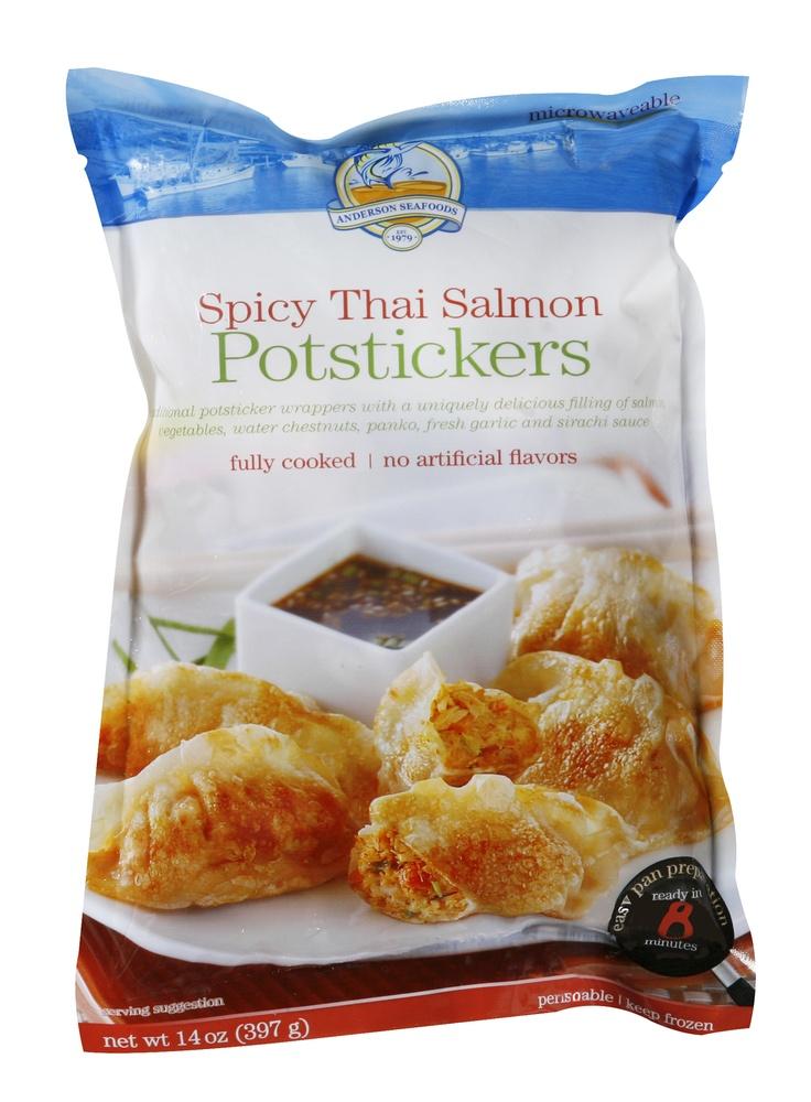 Spicy Thai Salmon Potstickers