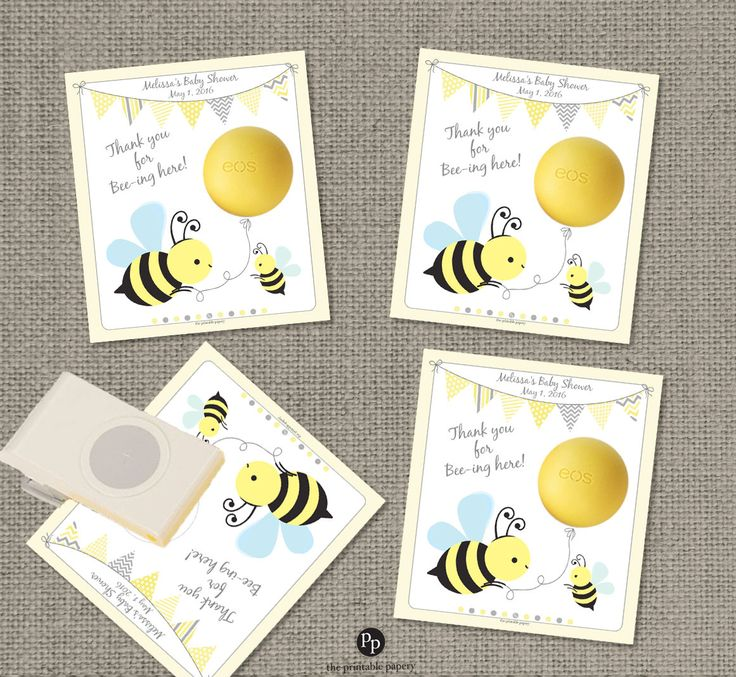 Bumble Bee Baby Shower Gift Tags for EOS lip balm |Bee ...