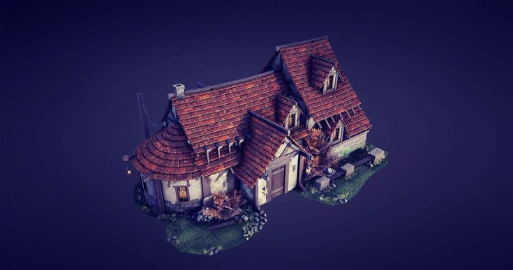 Medieval house environment, Bogodar Havrylyuk on ArtStation at https://www.artstation.com/artwork/8oKDE