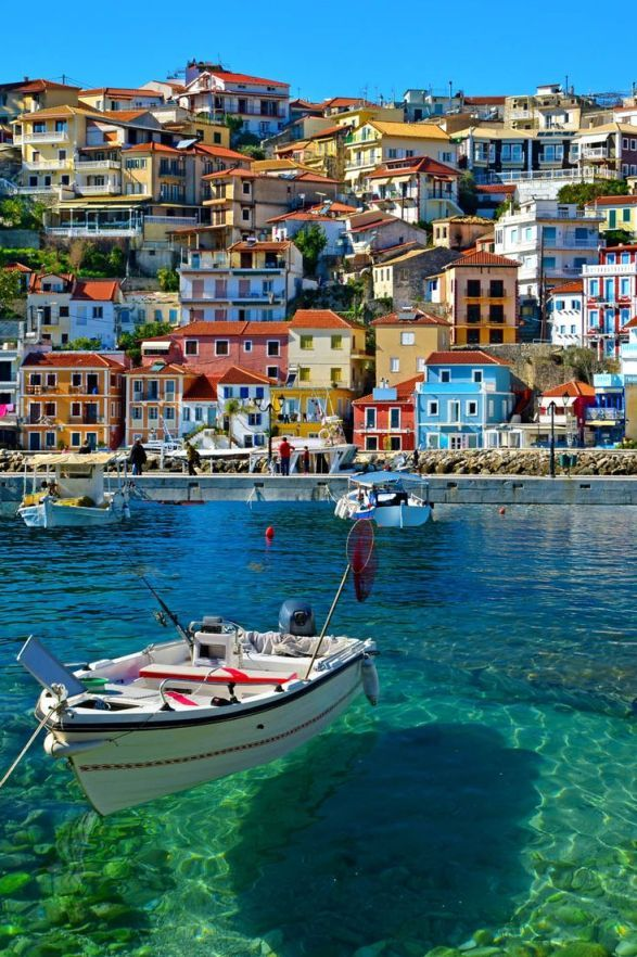 Parga ~ is a popular summer destination in Epirus, Greece. It is a small town situated in a secluded bay of the Ionian Sea and is famous for beaches with exotic waters.