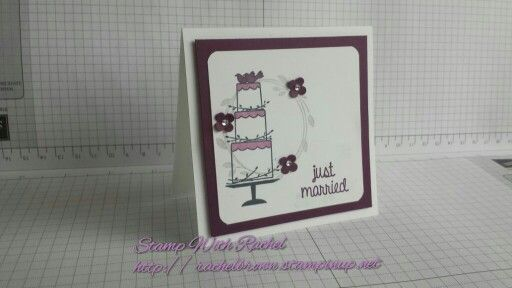 Stampin up 2015 occasions catalog your perfect day stamp set, super cute just married wedding gift card I made, 10cm x 10cm