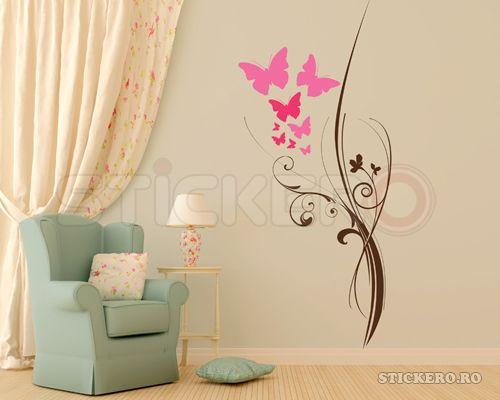 Sticker decorativ Floarea Fluturilor