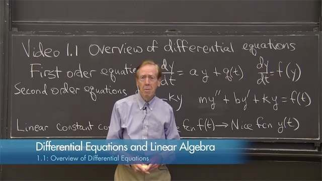 Differential Equations and Linear Algebra - Math education video from the Mathworks