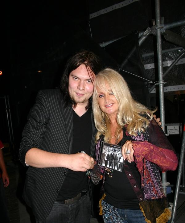 Hannu w/ Bonnie Tyler. The Matt Pistol Project did a lot of touring and opened for Bonnie Tyler.