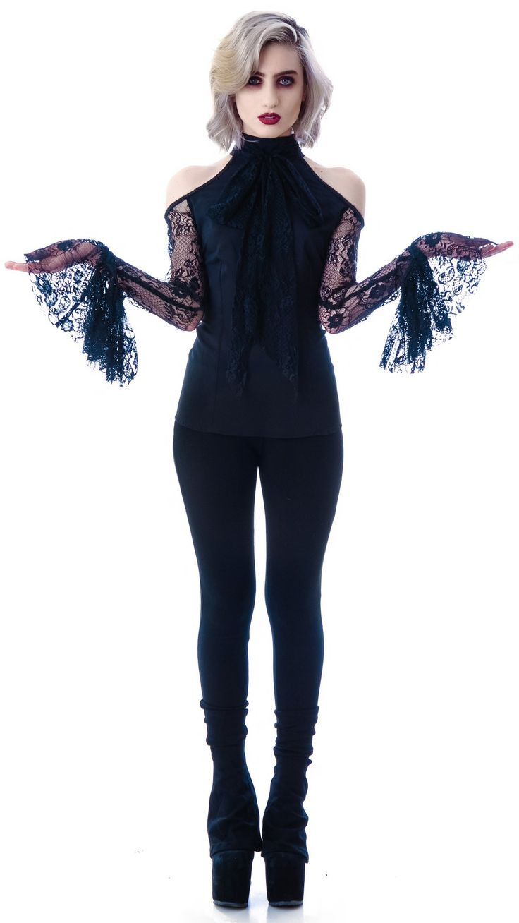 Lip Service Lace Chiffon Belle Sleeve Top http://www.dollskill.com/lip-service-lace-chiffon-bell-sleeve-top.html