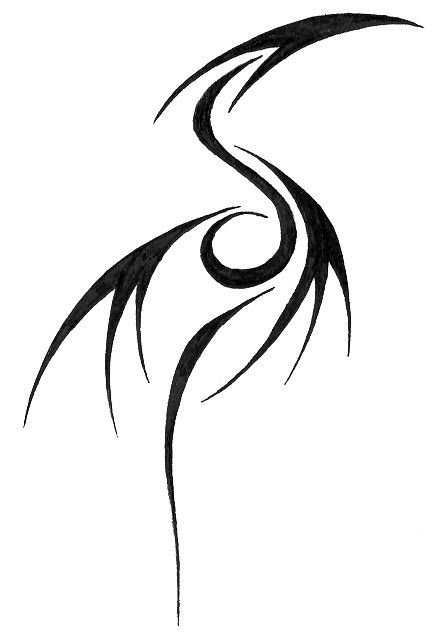 Tribal Dragon Tattoo Glyph by ~fayde on deviantART