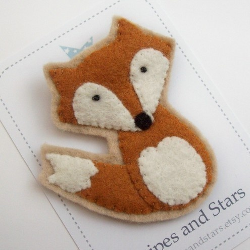 cute fox brooch!