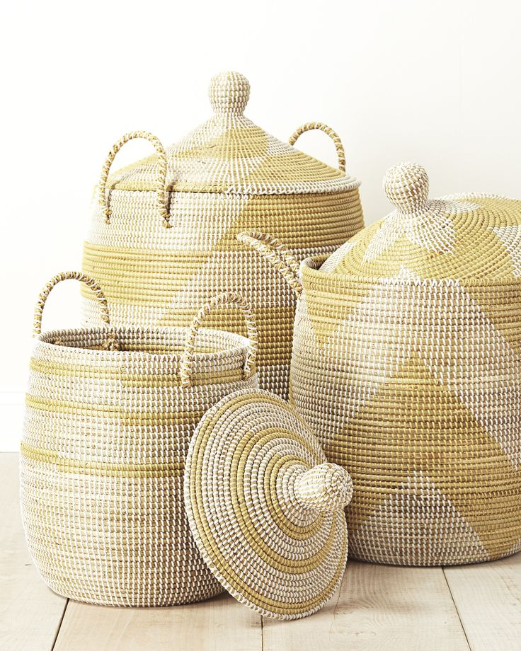 La Jolla Baskets / Serena & Lily / laundry baskets although we could find cheaper elsewhere