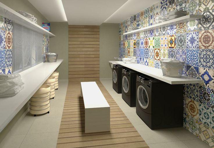 Perspectiva Artística da lavanderia