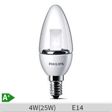 Bec LED Philips lumanare 25W E14 B35 lumina calda 230V clar ND/4