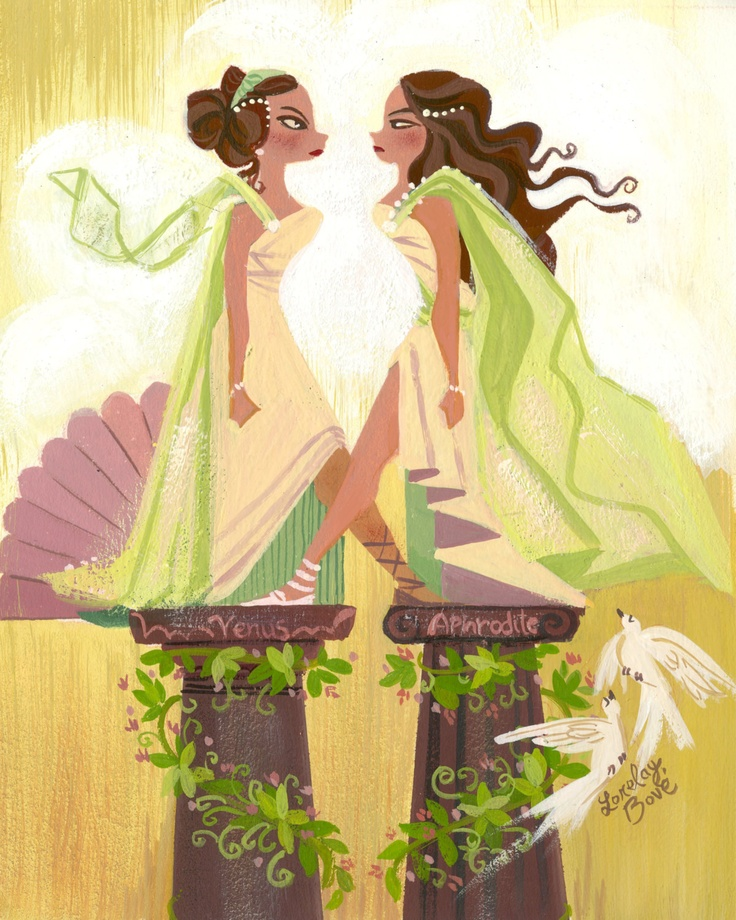 venus and aphrodite by lorelay bove
