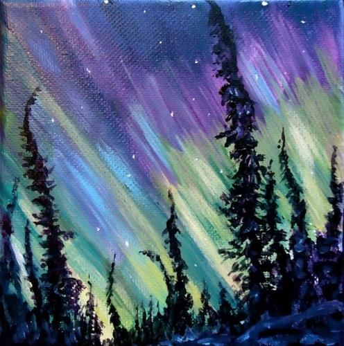 "Daily Paintworks - ""Northern LIghts"" - Original Fine Art for Sale - © Jackie Irvine"
