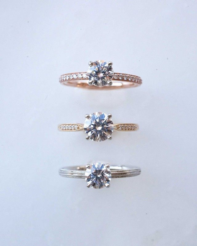 Simple & elegant engagement rings by Eden by Consider the Wldflwrs