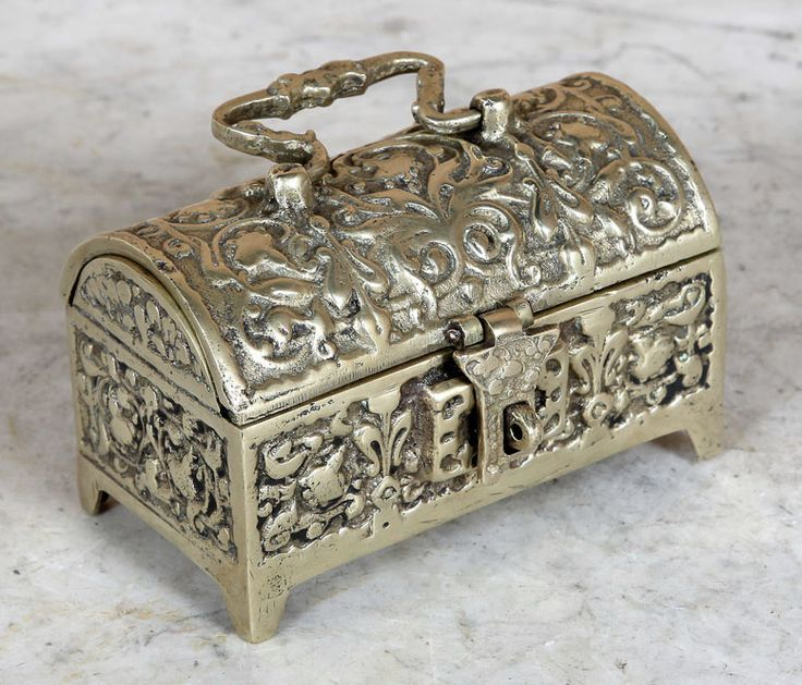 Antique Cast Bronze Jewelry Box | Antique Desk Accessories | Inessa  Stewart's Antiques - 30 Best Father's Day Gift Ideas Images On Pinterest Antique