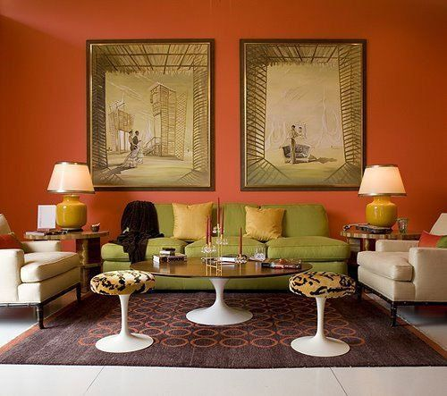 paint color portfolio orange living rooms - Orange Living Room Design