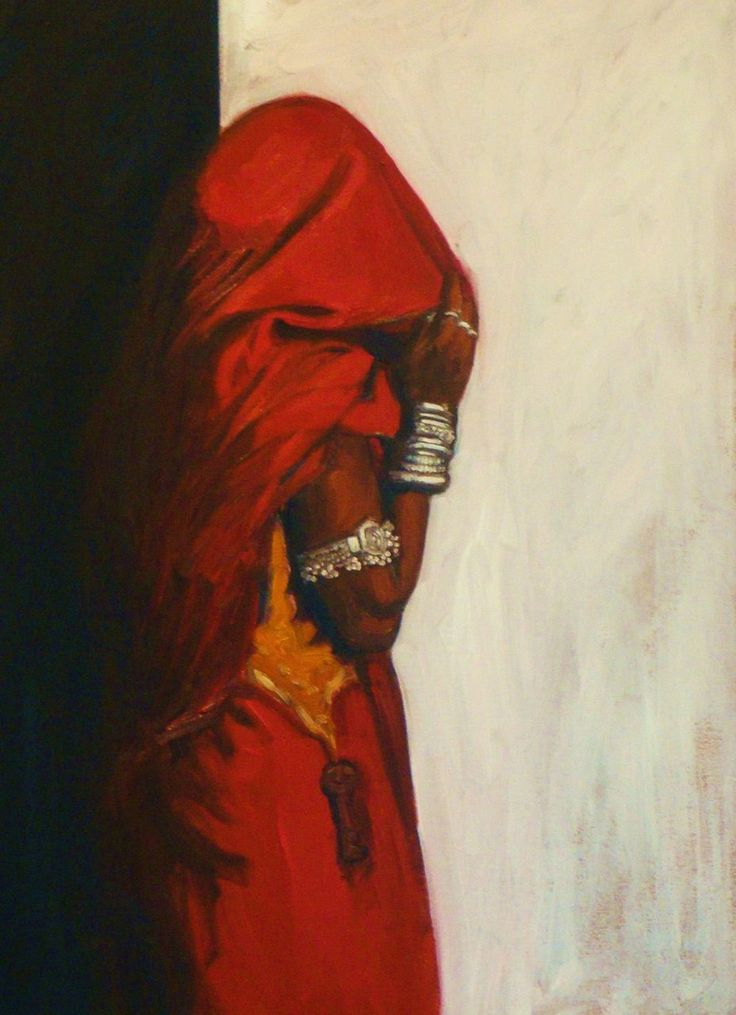 Gallery views of oil paintings by a southern California based contemporary Indian artist Arun Prem