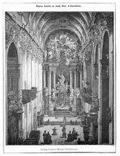"""Częstochowa 1867 Poland/Polen """"Wnętrze kościoła na Jasnéj Górze w Częstochowie."""