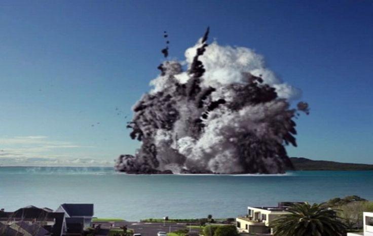 Nueva Zelanda 'Erupción' de volcán submarino 'destruye' la ciudad más poblada (Video) - Pachamama radio 850 AM