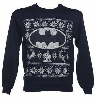 TruffleShuffle_com_Unisex_Dark_Blue_Marl_DC_Comics_Batman_Fair_Isle_Christmas_Sweater_29_99_On_Mens-320-400.jpg 320×343 pixels