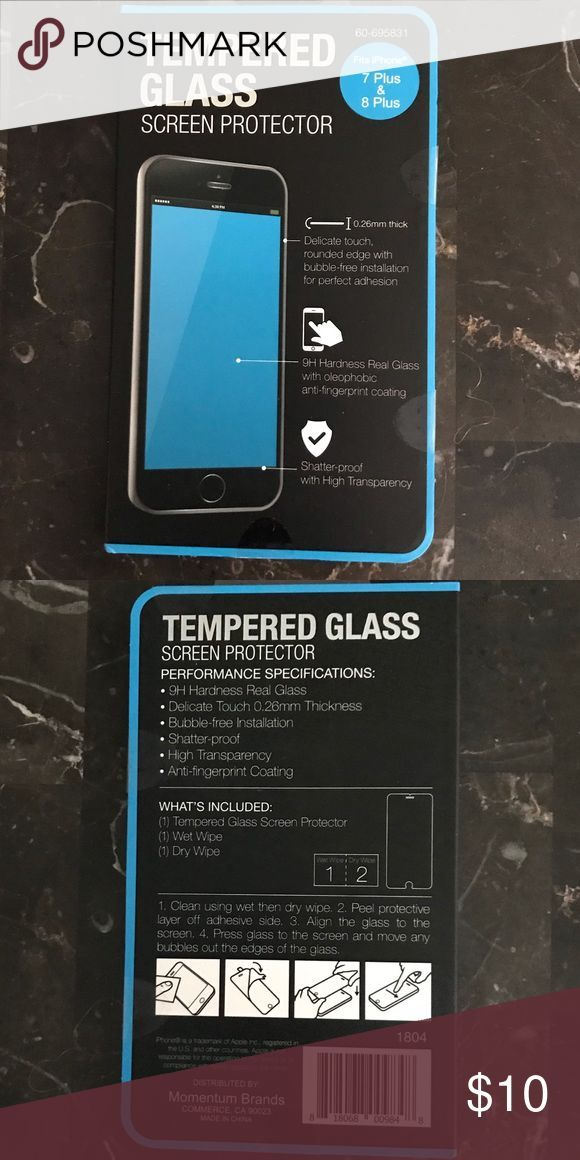 Tempered Glass Screen Protector For Iphone 7 8plus Shatter Proof