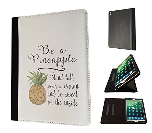 002833 - Tropical Fruit Be A Pineapple Quote Design Apple ipad Air 2 - 2015-2016 Flip Case Purse pouch Stand Cover #Tropical #Fruit #Pineapple #Quote #Design #Apple #ipad #Flip #Case #Purse #pouch #Stand #Cover