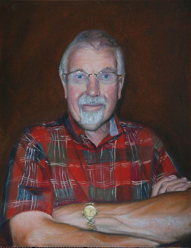 'Dad' Oil on Canvas Board. By Sarah McBride.