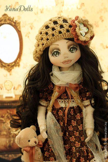 Есения - коричневый,кукла,кукла ручной работы,кукла в подарок,кукла текстильная
