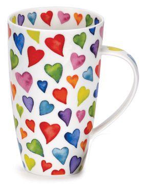 Big china mugs with hearts on them <3