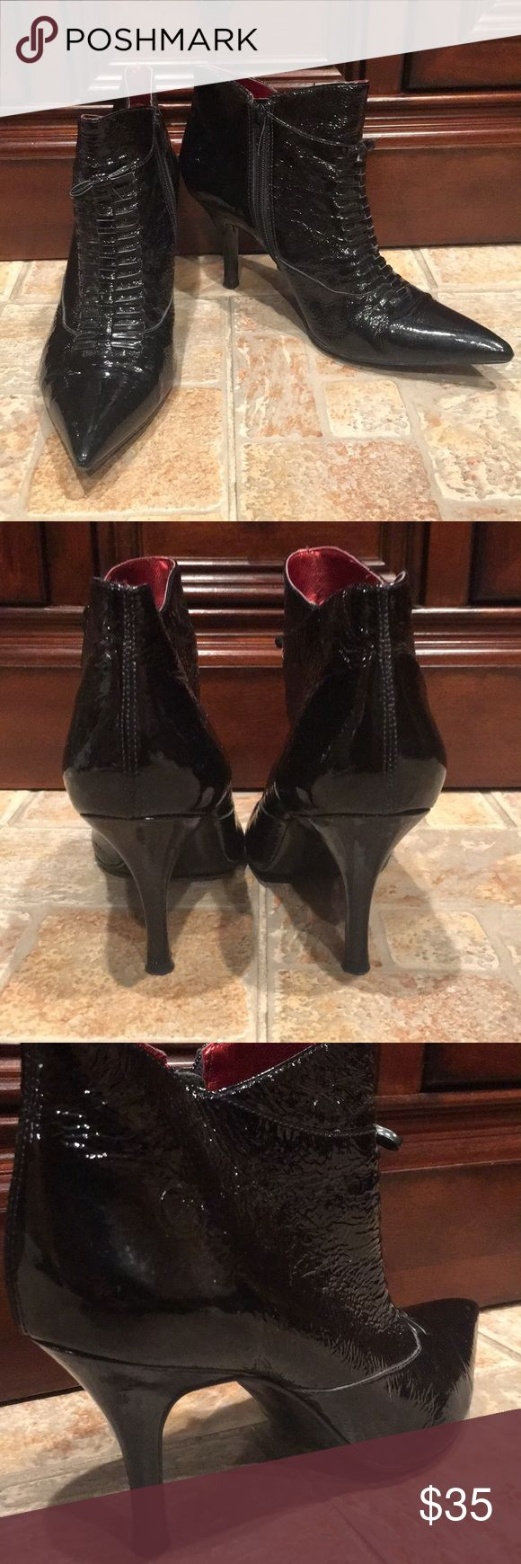 Patent Leather Black Heels Gently used, No flaws  If you don't like the price, send me an offer!! If you have any questions, comment below!! Bronx Shoes Heels