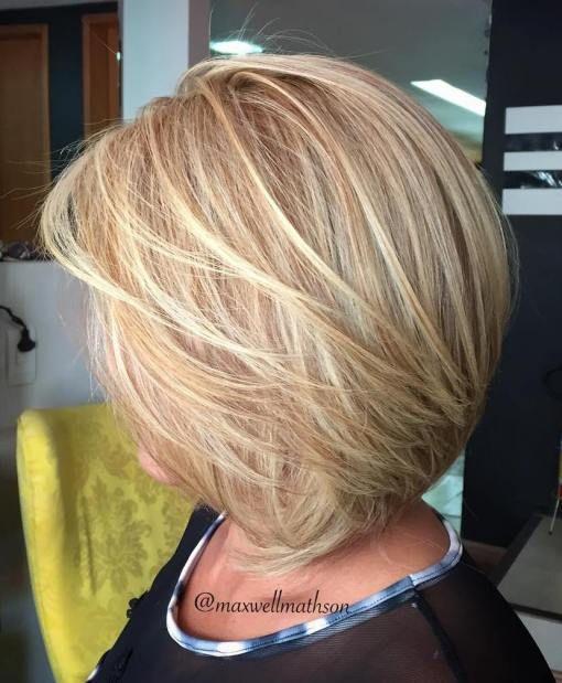 Blonde Layered Bob