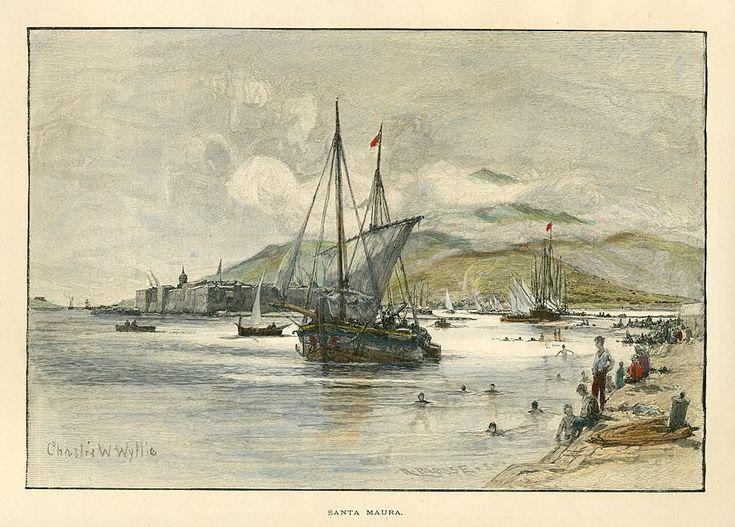 Santa Maura το 1890. Έργο του Charles William Wyllie. (1853-1923).