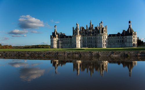 Chambord+Castle+-+Built+in+the+16C,+this+castleis+the+finest+example+of+Renaissance-style+architecture+and+the+most+beautiful+in+the+Loire+Valley.
