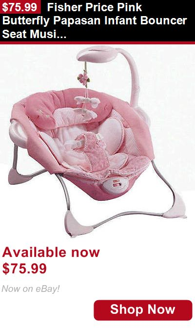 Baby bouncers and vibrating chairs: Fisher Price Pink Butterfly Papasan Infant Bouncer Seat Music New BUY IT NOW ONLY: $75.99