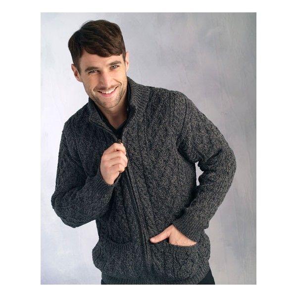 Gilet Aran | Pull traditionnel en laine de mérinos fabriqué en Irlande | A retrouver sur : http://www.chasse-maree.com/pulls-blousons/7042-gilet-zippe-irlandais.html