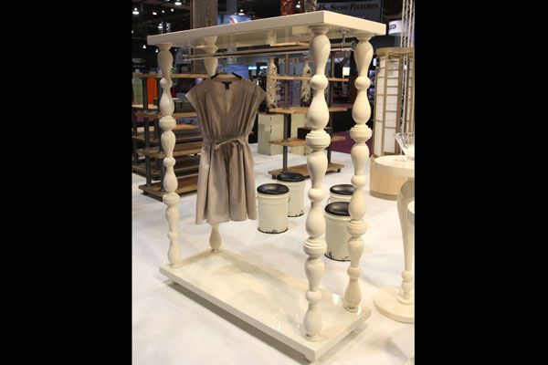retail boutique clothing displays | Elevations Inc. showed off this new clothes rack fixture, which boasts ...