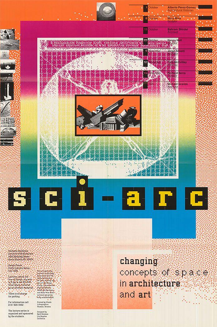 April Greiman (Graphic Designer), Sci-arc-affiche, 1985.