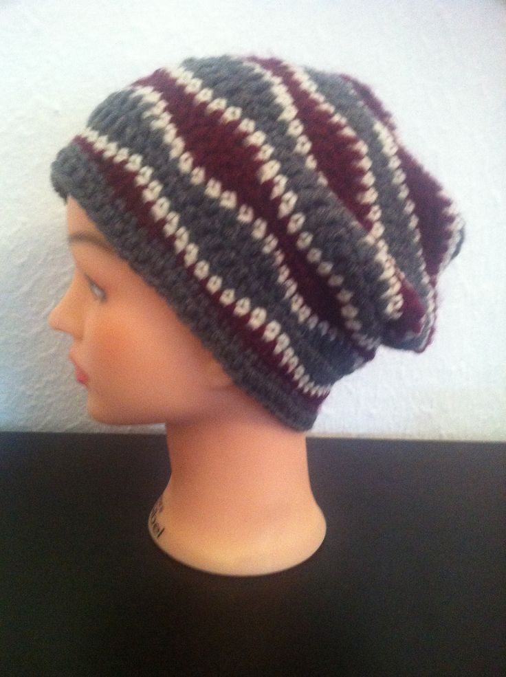 BRAIN WAVES SLOUCH BEANIE CROCHET