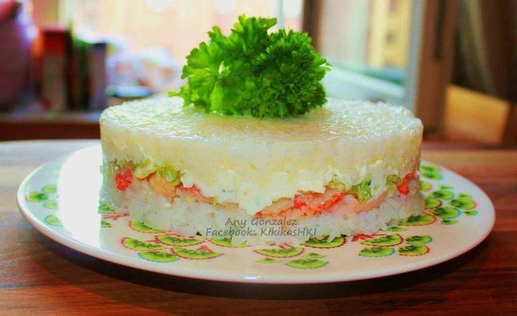 Pastel o rosca de sushi por Any Gonzalez