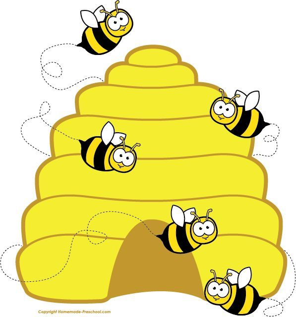 Honey bee clipart image cartoon honey bee flying around honey 2