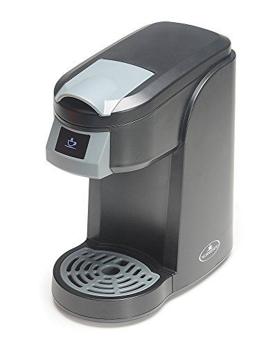 Technibrew Single Cup Coffee Maker Single serve brewer accepts K-cup Style Capsules--brews Coffee, Tea, & Hot Cocoa Brews single servings from 6 to 12 ounces Removable drip tray--allows for brewing into travel mugs