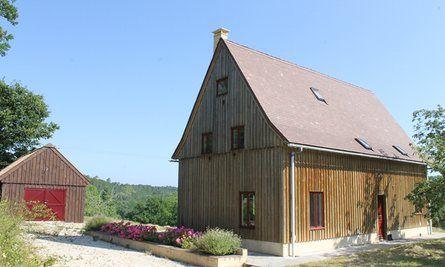 Wooden house in Savignac-de-Miremont, Dordogne, France