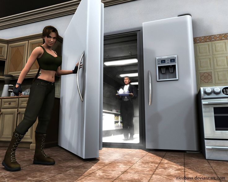 OH MY… I used to do it and still do XD Winston in the refrigerator