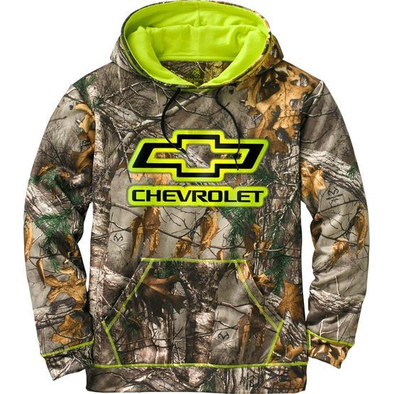 Men's Realtree Chevy Trucks Camo Mudder Hoodie at Legendary Whitetails